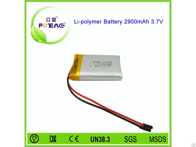 Protection Board 114058 3 7v 2900mah Li Polymer Battery