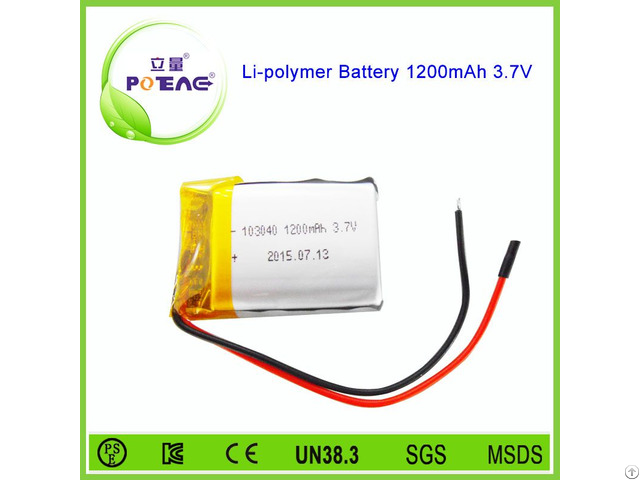 Msds Approved 103040 Cell 1200mah 3 7v Li Polymer Battery