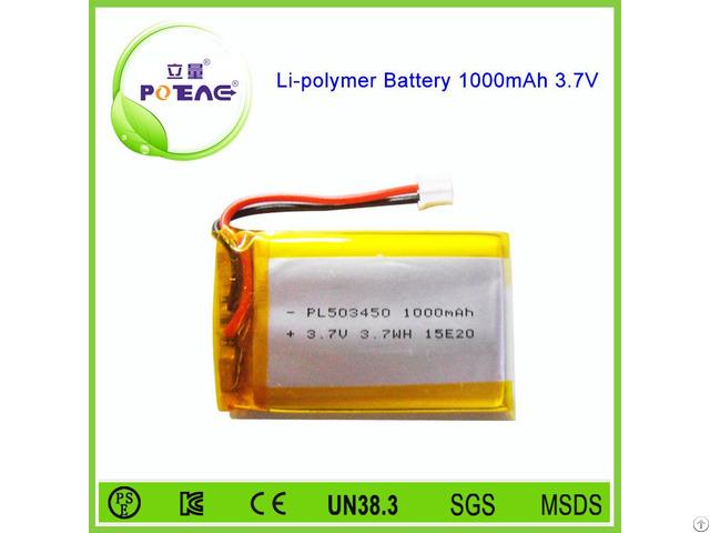 Manufacturer 503450 3 7v 1000mah Polymer Lithium Battery
