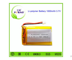 Manufacturer 503450 3 7v 1000mah Polymer Lithium Battery