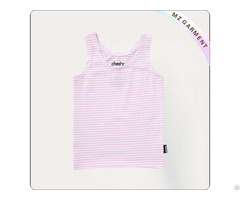Kids Light Purple Stripes Singlet