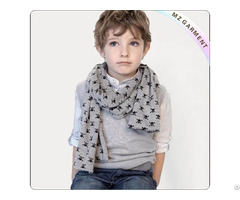 Grey Cotton Skull Scarf