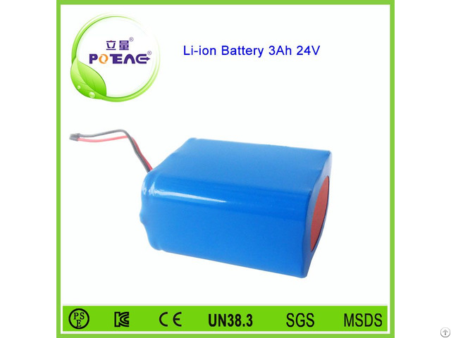 Rechargeable 18650 24v 3000mah Lithium Ion Battery Pack For Searchlight