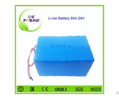 Ce Msds Certificate 24v 8000mah Li Ion Battery Pack