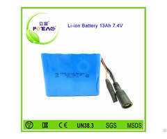 Deep Cycle 13ah 7 4v 18650 Rechargeable Li Ion Battery Pack