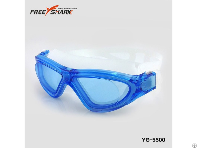 Silica Gel Large Frame One Piece Anti Fog Pc Lens Swimming Goggles