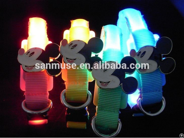 Small Cute Silicone Dog And Cat Led Collar