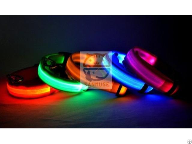 Usb Charging Flash Led Pet Collar