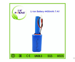 Special Structure 18650 Lithium Ion Battery Pack 7 4v 4400mah