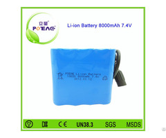 Dongguan Manufacturer 7 4v 8000mah Li Ion Battery Pack