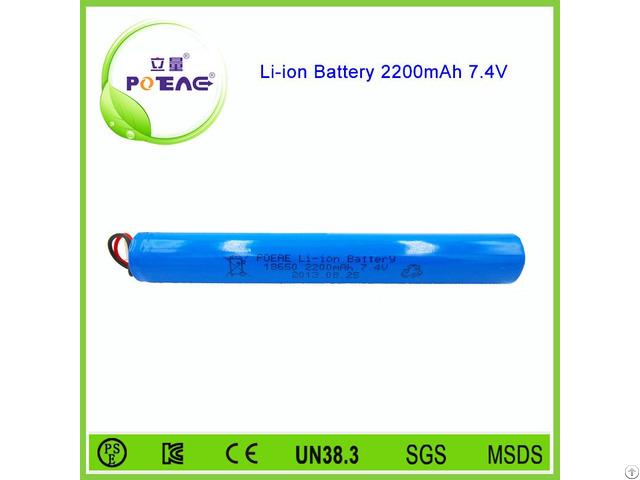 2s1p 18650 7 4v 2200mah Lithium Ion Led Light Battery