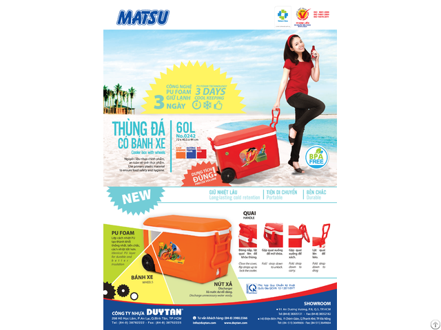 Cooler Box 60l Duy Tan Plastics