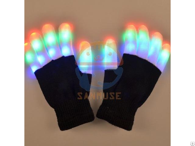 Led Flashing Glove For Festival Halloween,christmas,thanksgiving Day