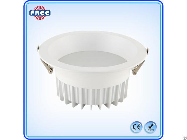 New Round White Aluminum Led Downlight Lamp Shell