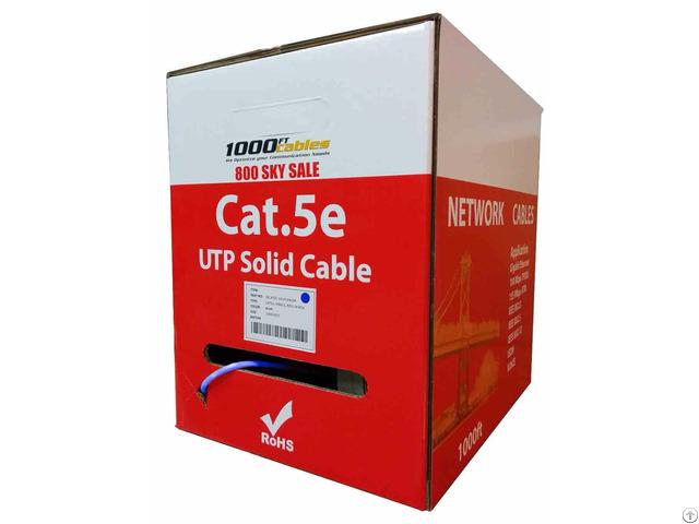 Cat5e Plenum Bulk Utp 24awg Ethernet Networking Cable