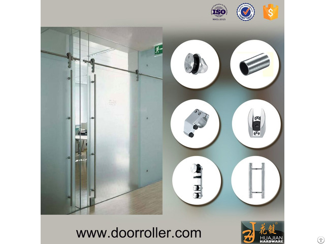 Stainless Steel Interior Barn Door Track System With Safety Pin