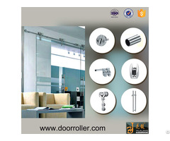 Modern Heavy Duty Stainless Steel Barn Door Hardware