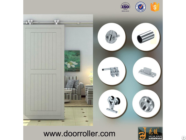 Complete Set New Design Wooden Door Roller Sliding Glass Barn Doors