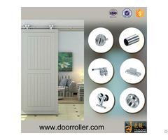 Complete Set New Design Wooden Door Roller Sliding Glass Barn Doors