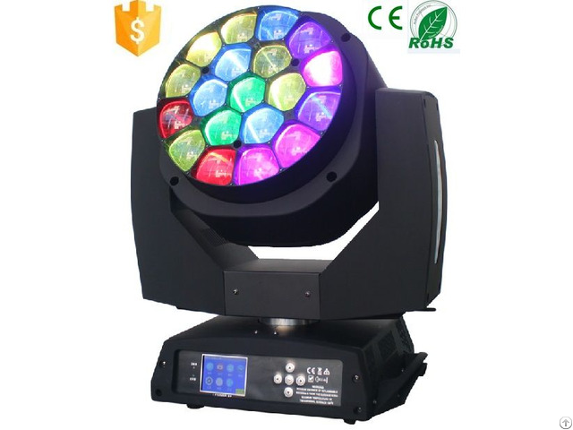 Strong Beam Effect Rgbw Moving Head 19x15w Bee Eye Light