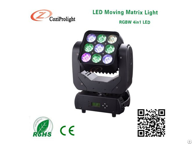 4in1 Mini Led Moving Head Matrix Stage Light