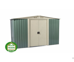 Garden Metal Shed Apex Roof 10x8ft