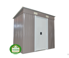 Garden Metal Shed Pent Roof 4 X6 Ft