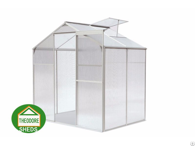 Aluminum Greenhouse 4 X6 Ft Silver