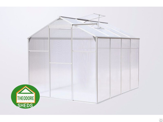 Aluminum Greenhouse 8 X6 Ft Silver