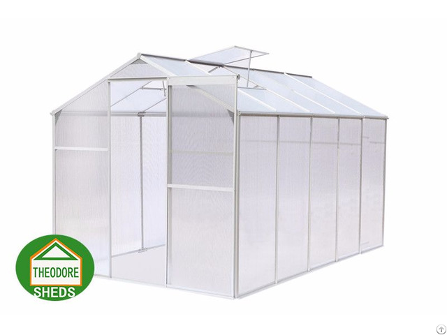 Aluminum Greenhouse 10x6ft Silver