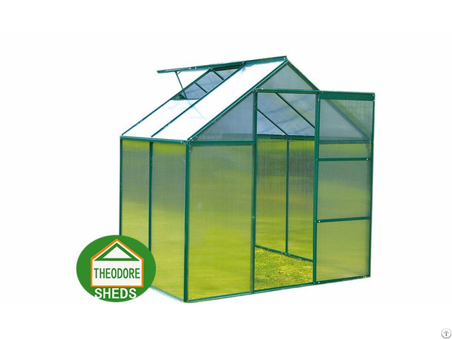 Aluminum Greenhouse 4x6ft Green