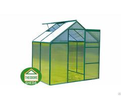 Aluminum Greenhouse 4x6ft Green