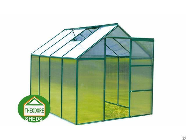 Aluminum Greenhouse 8x6 Ft Green