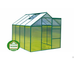 Aluminum Greenhouse 8x6 Ft Green