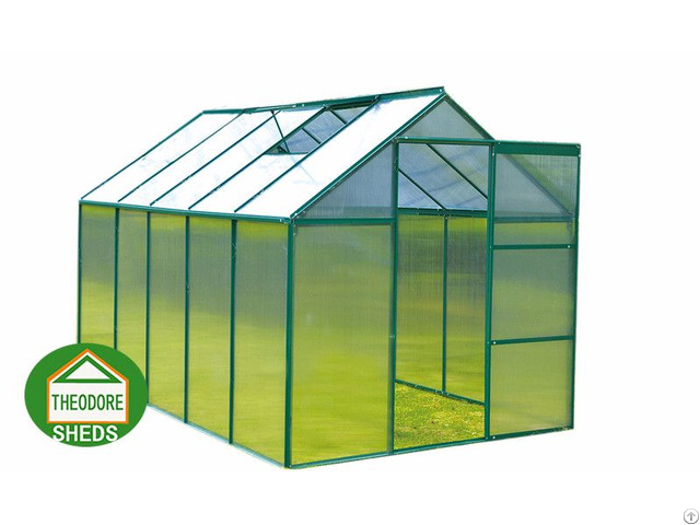 Aluminum Greenhouse 10x6 Ft Green