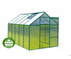 Aluminum Greenhouse 10x6 Ft Green