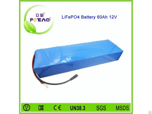 China 26650 Cell 12v 60ah Lifepo4 Battery For Solar Garden Lighting