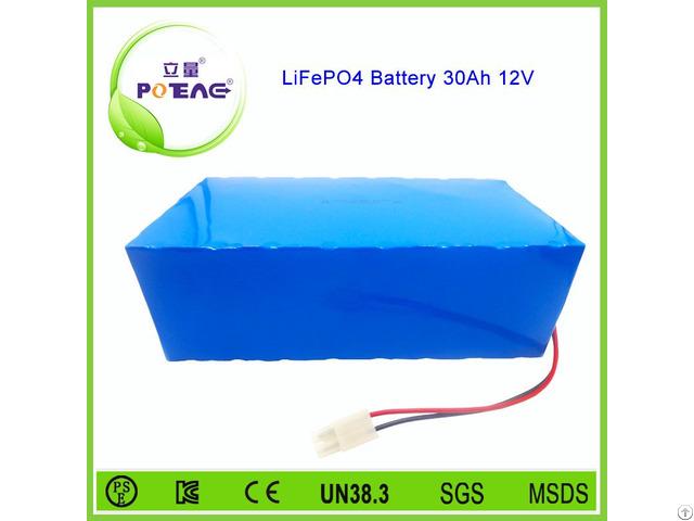 Long Cycle Life 26650 Lifepo4 12v 30ah Battery Pack