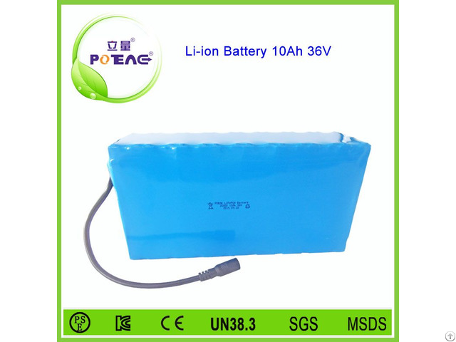 Cylindrical 11s3p 26650 36v 10ah Lithium Battery Pack