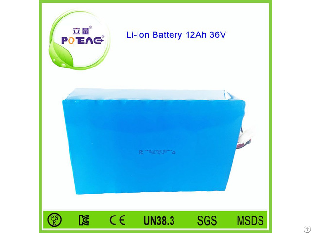 Lifepo4 Type 9 Years Experience Customized 36v 12ah Li Ion Battery Pack