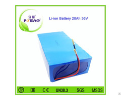 Ce Approved 36v 20ah Lifepo4 Lithium Battery Pack