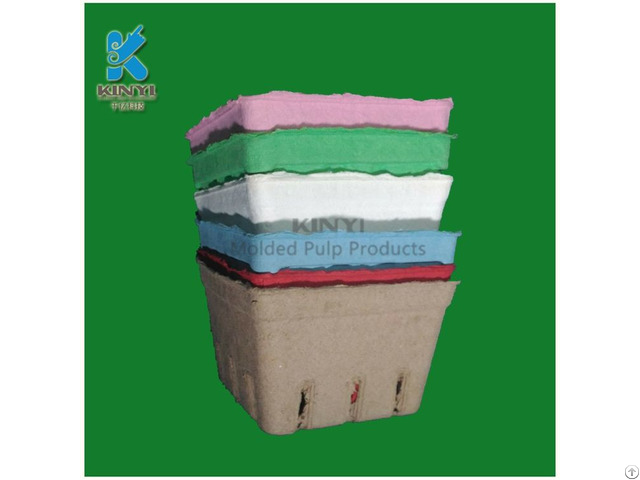 Environmental Paper Pulp Fruit Packaging Box