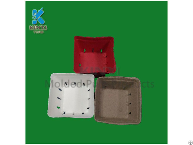 Eco Friendly Paper Pulp Molded Fresh Fruit Packaging Tray Basket