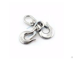 Safety Crane Stainless Steel Swivel Eye Hook