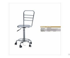 Stainless Steel High Backrest Stool