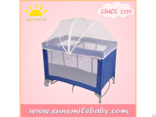 Oem Factory Supply European And Crc Standardbaby Playpen Travel Cot Bed With Mosquito Net