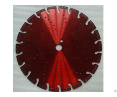 Laser Welded Turbo Segmented Diamond Blade With Slant Slot And Cooling Hole