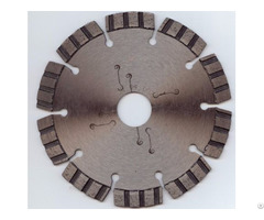 Turbo Segmented Diamond Blade With Low Noise Laser Cutting Slot