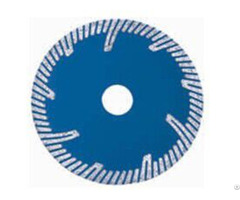 Sintered Turbo Blade With Slant Protect Teeth For Granite