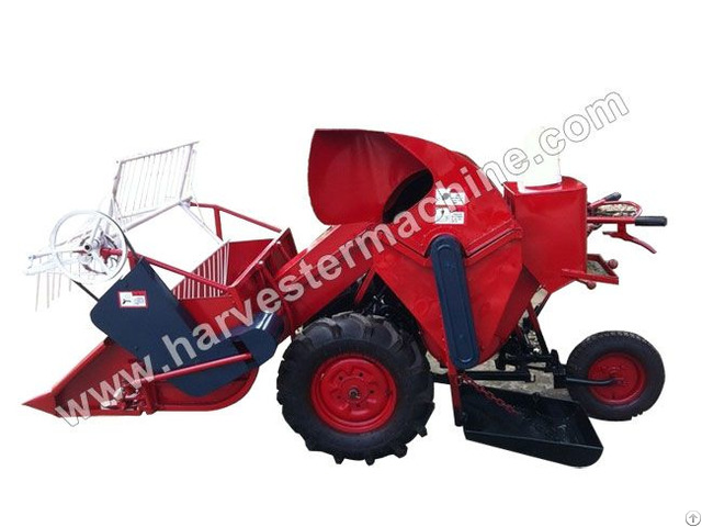 Walking Type Small Rice Wheat Combine Harvester